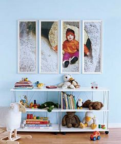 Cool Idea, large picture sectioned in frames