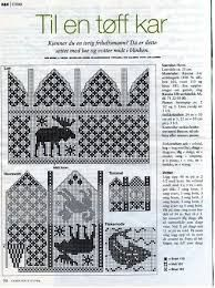 Knit Moose mittens and Hat charts Crochet Stitches Patterns, Stitch Patterns, Knitting Patterns, Knitting Ideas, Mittens Pattern, Fair Isle Knitting, Knitting Charts, Paper Hearts, Filet Crochet