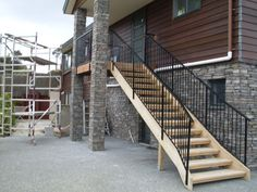 Wrought iron balustrade on staircase - Auckland Balustrades - External Auckland, Wrought Iron, Exterior, Image, Outdoor Rooms