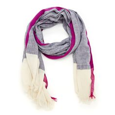 Women's Multi Cotton Stripe Herringbone Scarf by Sole Society