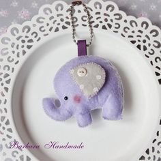 Barbara Handmade...: Lawendowy słonik