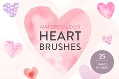 Graphic Design - Graphic Design Ideas  - Check out Watercolor heart Photoshop brushes by Gemma Garner on Creative Market   Graphic Design Ideas :     – Picture :     – Description  Check out Watercolor heart Photoshop brushes by Gemma Garner on Creative Market  -Read More –