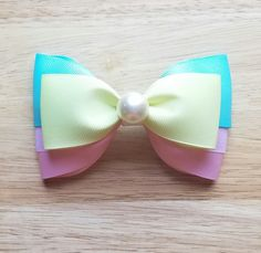 Steven Universe Inspired Hair Bow Pearl Hair Bow by BerryTreasured