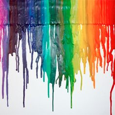 Make your own custom artwork from crayons glued onto a canvas.  Tutorial included.