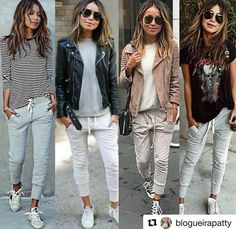 Athleisure Outfits Source by sebacarpik outfits fall Athleisure Outfits, Sporty Outfits, Mode Outfits, Fall Outfits, Fashion Outfits, Womens Fashion, Jogger Pants Outfit, Black Joggers Outfit, Look Fashion