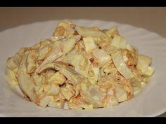 Салат с кальмарами и яйцами.Вкусный,нежный и простой. - YouTube