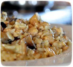 Ρυζότο με κοτόπουλο, μανιτάρια και φέτα
