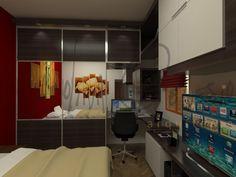 #diseño de #mueble para dormitorio con sector de trabajo incluido