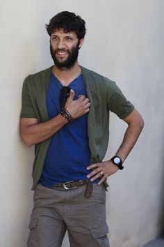 Italian men, unafraid to try anything fresh - love the short sleeve cardigan!