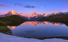 Reflect! by RamtinKazemi  Bern - Berne Verwaltungskreis Interlaken-Oberhasli alp alps bachalpsee clouds eiger europe jungfrau