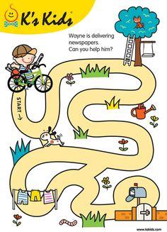 Kindergarten Reading Activities, Kindergarten Lessons, Preschool Learning Activities, Kids Learning, Shape Worksheets For Preschool, Mazes For Kids Printable, Logic Games For Kids, Emotions Preschool, Creative Activities For Kids