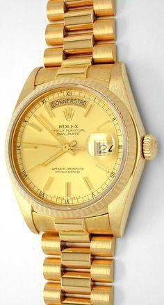 Foto 1, Original Hr-Rolex-Daydate Gold Geprüft Neuw.! Portofrei, U1743