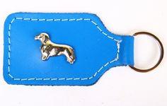 Dackelparadies - Schlüsselanhänger Leder mit Dackel