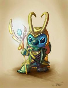 Stitch as Loki