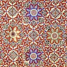 Muslims have always gone for abstract geometric patterns to decorate buildings, especially mosques and tombs. I got this colourful example from the ceiling of the main mosque in Rajah Bazaar, the old part of Rawalpindi, Pakistan.