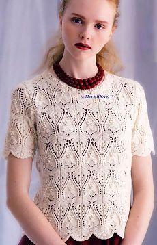 Вязание спицами - очень красивый пуловер