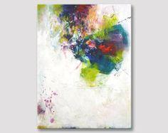 Original arte pintura abstracta, arte moderno, pintura acrílica, lona estirada, obras de arte originales, coloridas obras de arte multicolor