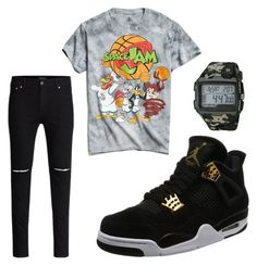 """""""space jam"""" by sheafleming195 on Polyvore featuring Urban Outfitters, NIKE, Timex, men's fashion and menswear"""