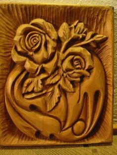 WoodcarvingThe golden rosehandmadeOOAK by WoodAlive on Etsy, $90.00
