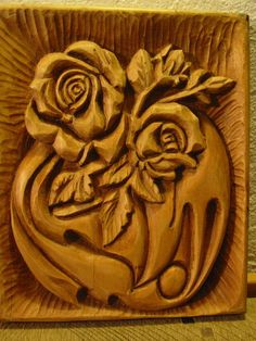 WoodcarvingThe golden rosehandmadeOOAK by WoodAlive on Etsy, $90.00