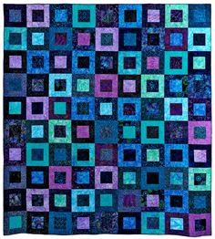 Ocean Dreams Bed Quilt by QuiltModern on Etsy, $475.00