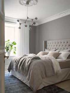 Bedroom Closet Design, Gray Bedroom, Bedroom Inspo, Scandinavian Interior Design, Gray Interior, Living Room Decor Cozy, New Room, Interior Inspiration, House Design