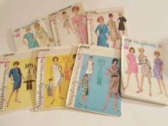 Lot 7 Vtg 1950s-60s Womens Sewing Patterns Mod Swing Jackie O Dress Jacket 16-18  http://www.ebay.com/itm/Lot-7-Vtg-1950s-60s-Womens-Sewing-Patterns-Mod-Swing-Jackie-O-Dress-Jacket-16-18-/291663328344?hash=item43e87d3458:g:cH4AAOSw-zxWnaE-