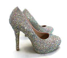 Sparkly wedding high heeled shoes - The Flamingo Unicorn