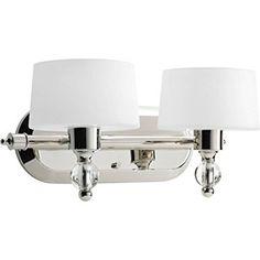 Progress Lighting P2920-104WB Two-Light Bath with Bulb get wed 200 120 watt