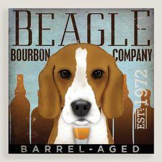 One of my favorite discoveries at WorldMarket.com: Beagle Bourbon Company Wall Art