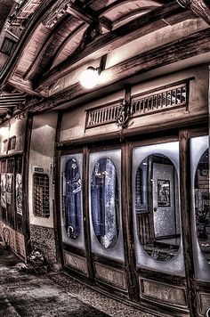 Entrance of a traditional Japanese inn, Tochigi