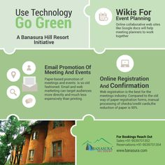 #Green_Meetings - Technology can help to reduce the environmental impact of your event. Green your Meetings and save environment, An initiative from Banasura Hill Resort. http://banasura.com/eco-nature-resorts-in-wayanad-kerala    #eco_resorts #go_green
