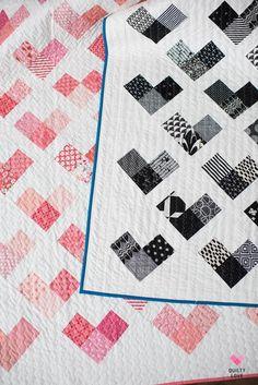 Heart Quilt Pattern, Scrappy Quilt Patterns, Quilt Square Patterns, Modern Quilt Patterns, Square Quilt, Pattern Fabric, Easy Baby Quilt Patterns, Quilt Blocks, Paper Quilt