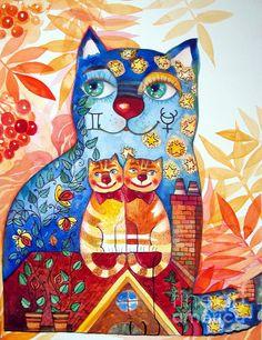 Art Print Framed Print Canvas Print gallery of art animals cat dog