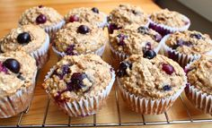 Healthyish muffins to use up buttermilk