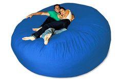 Giant bean bag longer chair http://everymomneeds.com/giant-bean-bag-chair/ I want this !!!!!!!