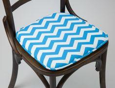 Almofada para Cadeira Zig-Zag Azul | A Loja do Gato Preto | #alojadogatopreto | #shoponline