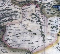 Kaart van Drenthe uit 1568.