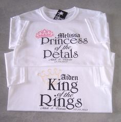 King of the Rings and Princess of the Petals by TheKnottedPalm, $19.95