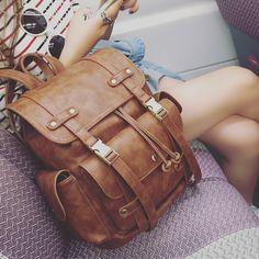 Latest Women Vintage Leather Backpack Fashion Youth Feminine Casual School Bags For Teenage Girls Female Preppy Travel mochila