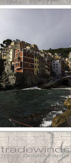 The town of Riomaggiore in Cinque Terre National Park (Parco Nazionale delle Cinque Terre)