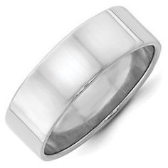 7MM Flat Edge Lightweight Plain Wedding Band In 10K White GoldGemologica.com offers a large selection of wedding bands in 10K and 14K yellow and white gold for men and women. We have styles including comfort fit, half round edges, flat edges, flat comfort fit, flat step down edge, half round with milgrain, plain, classic, antique style and bevel edge. Our complete collection of gold wedding rings jewelry: www.gemologica.com/mens-gold-wedding-bands-c-28_46_316_320.html