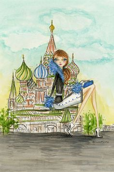 """See The Sights: """"Moscow"""" By Bella Pilar Canvas Print #BPR195"""