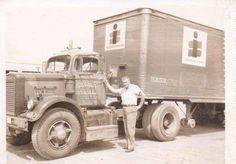 The original photo made me so curious that I looked up Oatman. The reason I did, was that I went through there in and never stopped. Big Rig Trucks, Semi Trucks, Old Trucks, Freight Transport, Truck Transport, Western Star Trucks, Freight Truck, White Truck, Kenworth Trucks
