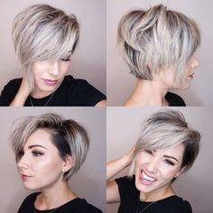 """How to style the Pixie cut? Despite what we think of short cuts , it is possible to play with his hair and to style his Pixie cut as he pleases. For a hairstyle with a """"so chic"""" and pointed… Continue Reading → Edgy Haircuts, Bob Haircuts For Women, Short Pixie Haircuts, Long Bob Hairstyles, Short Hairstyles For Women, Short Hair Cuts, Short Hair Styles, Undercut Hairstyles, Short Hair Trends"""