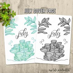 July Cover Page Perfect for adding to your Bullet Journal