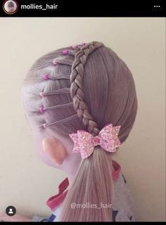 Cute Hairstyles For School, Lil Girl Hairstyles, Natural Hairstyles For Kids, Pretty Hairstyles, Braided Hairstyles, Hermione Hair, Acrylic Nail Designs Classy, Tail Hairstyle, Girl Hair Dos