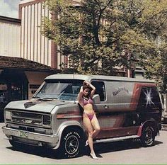Custom 70's Ford show van