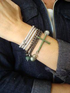 Fernanda Fernandes bijoux - Mix pulseiras crucifixo
