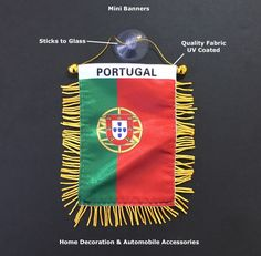 Portugal Portuguese flag Quality Hand Made Mini Banners Automobile & Home decoration small hanging rearview wall office room accessories by urbanNYCdesigns on Etsy Small Flags, Mini Flags, Car Parts And Accessories, Room Accessories, Guatemala Flag, Portuguese Flag, Thailand Flag, Car Interior Decor, Car Flags